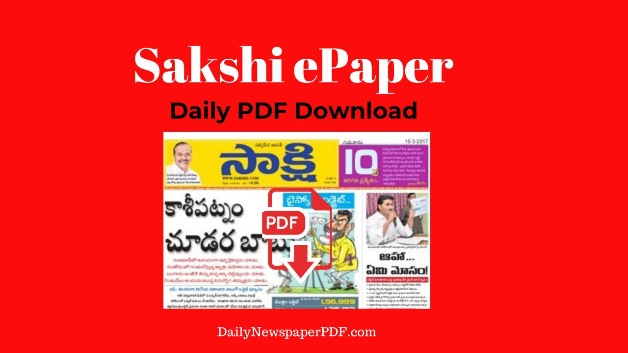 Sakshi Epaper PDF
