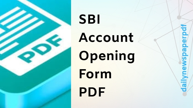SBI Account Opening Form
