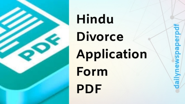 Hindu Divorce Application Form PDF