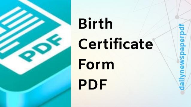 Birth Certificate Form