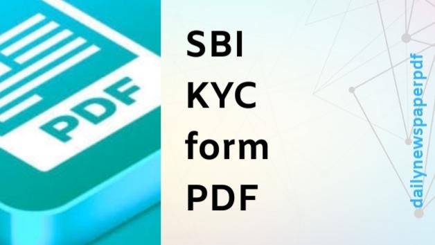 SBI KYC Form PDF